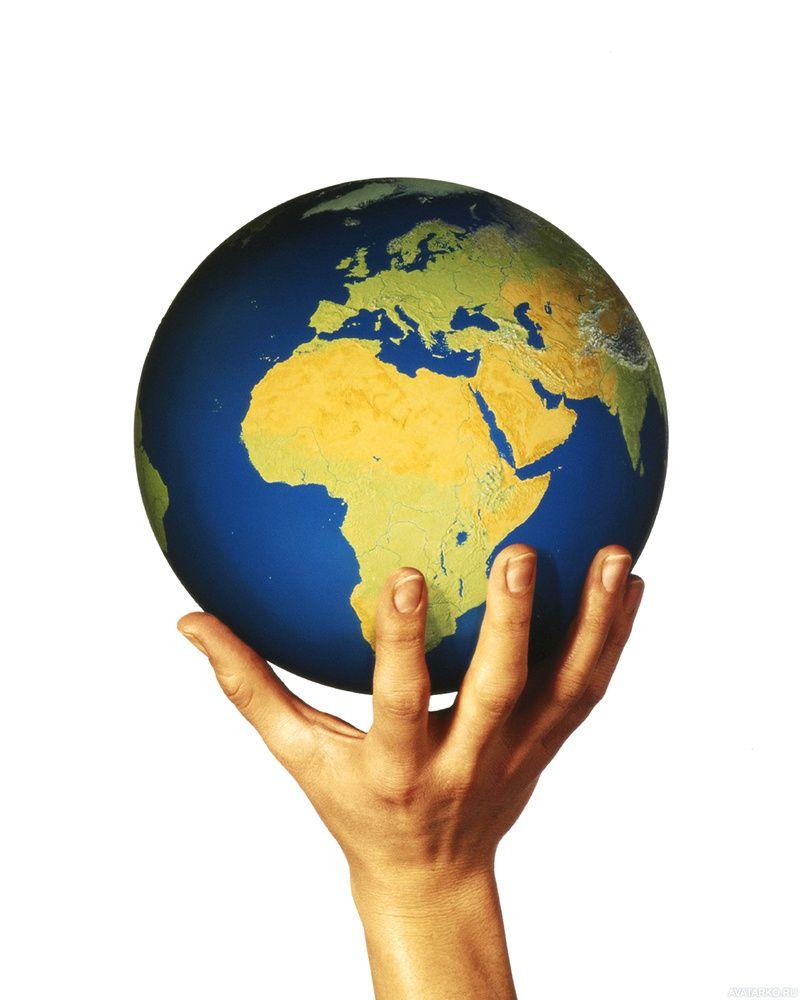 Земной шар в руках ребенка картинка