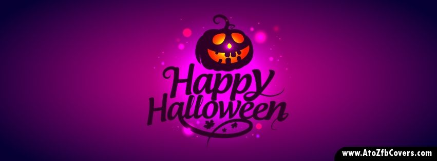Happy Halloween Pumpkin Facebook Cover Photo   AtoZ FB Covers