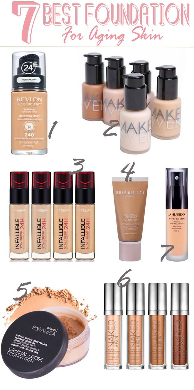 Best foundation for aging skin over 50, Best foundation for aging skin drugstore natural skincare