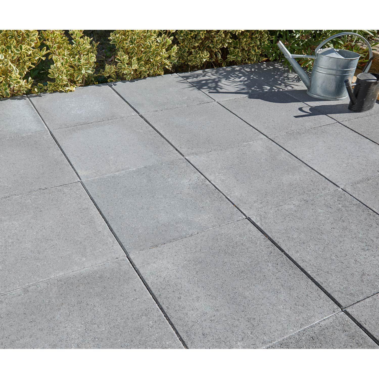Dalle Schiste Leroy Merlin dalle béton provençale, gris foncé, l.50 x l.50 cm x ep.50