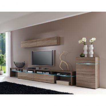 wohnwand wohnzimmer. Black Bedroom Furniture Sets. Home Design Ideas