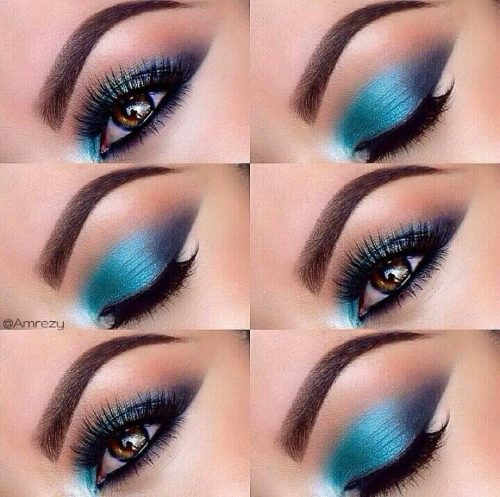 maquillaje turquesa