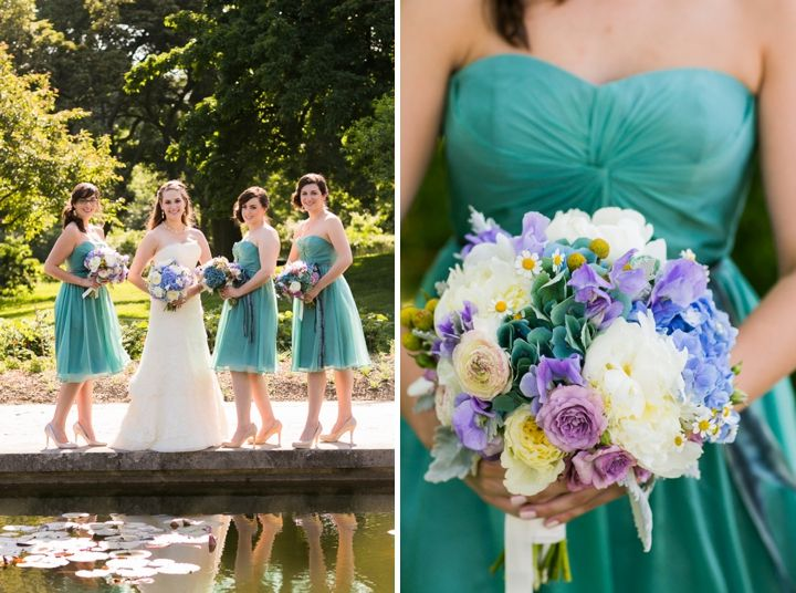 Purple and blue bouquet- love this color combination!   // Photographer: Sarah Tew Photography, Floral Design: Rebecca Shepherd Floral Design // see more: http://theeverylastdetail.com/2013/09/04/modern-romantic-lavender-blue-wedding/