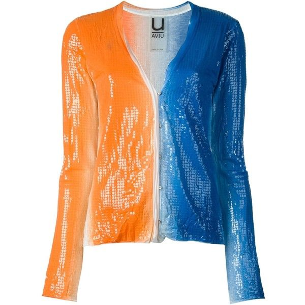 Aviù Sequin Cardigan (£205) ❤ liked on Polyvore featuring tops ...
