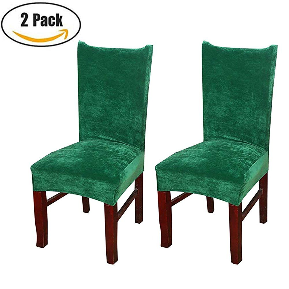 Smiry Stretch Dining Room Chair Slipcovers Protector Soft Velvet Spandex Fabric Removable Washabl Slipcovers For Chairs Slipcovers Dining Room Chair Slipcovers