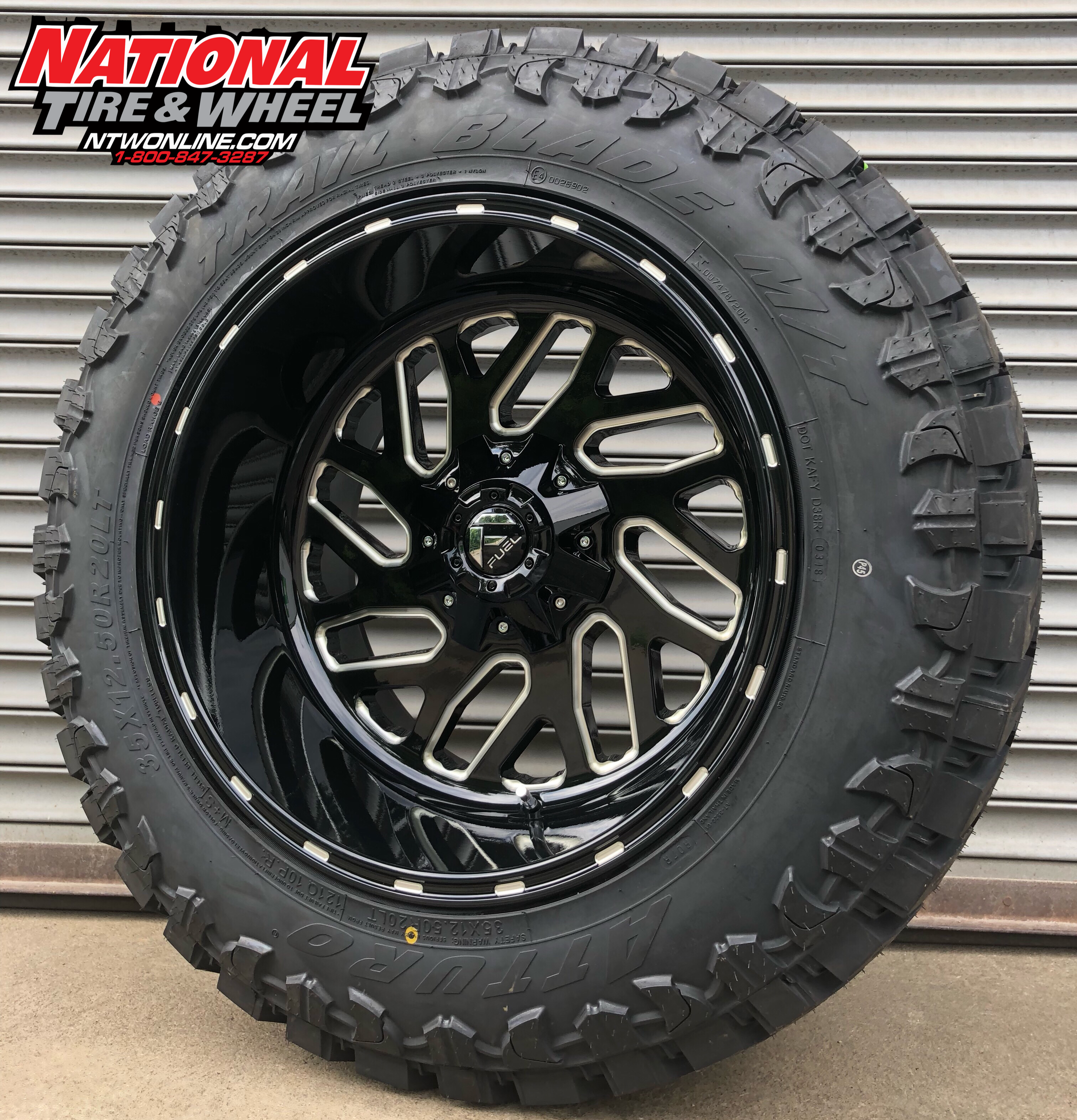 National Tire And Wheel >> 20x12 Fuel Triton Mounted Up To A 35x12 50r20 Atturo Trailblade Mt