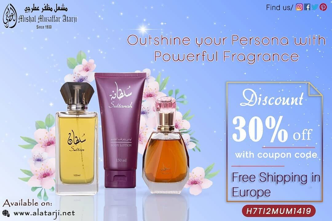 Outshine your Persona with Powerful Fragrance Get 30% discount and FREE shipping in Europe! 🌐www.alatarji.net #alatarji #perfume #fragrance #perfumecollections #fragrancelover #perfumeaddict #smellgood #nichefragrance #fragraneceaddict #perfumestore #freshperfumes #perfectblend #newscents