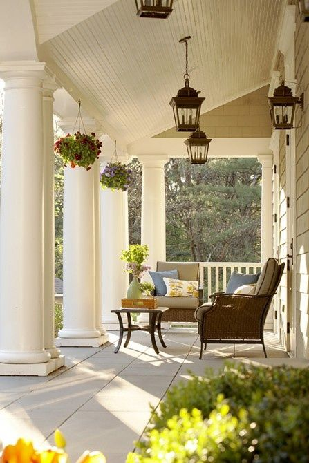 Wide Southern porches Come set a spell Pinterest Terrazas