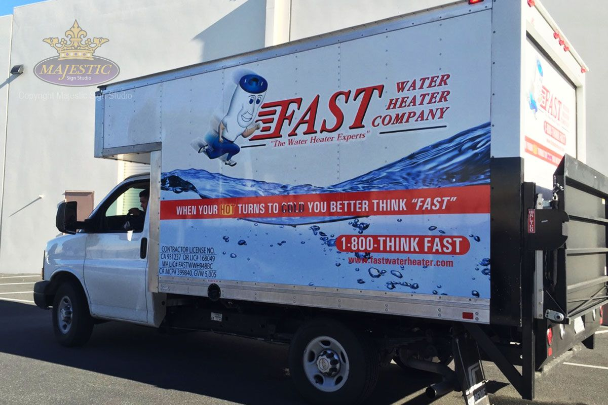 Heating & Air company truck wrap