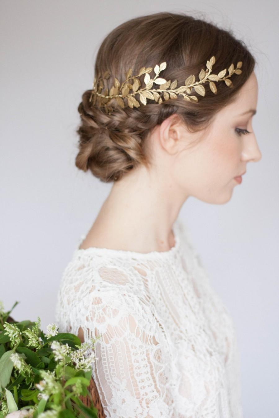 Trendy bridal headpiece - Alena Wrap Headpiece Gold Leaf Circlet Crown Bridal Headpiece Leaf Coronet Bohemian Headpiece Boho Greek Crown Greek Coronet 240