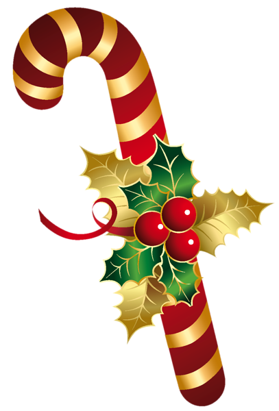 Golden And Red Christmas Candy Cane Png Clipart Christmas Paintings Christmas Graphics Christmas Art