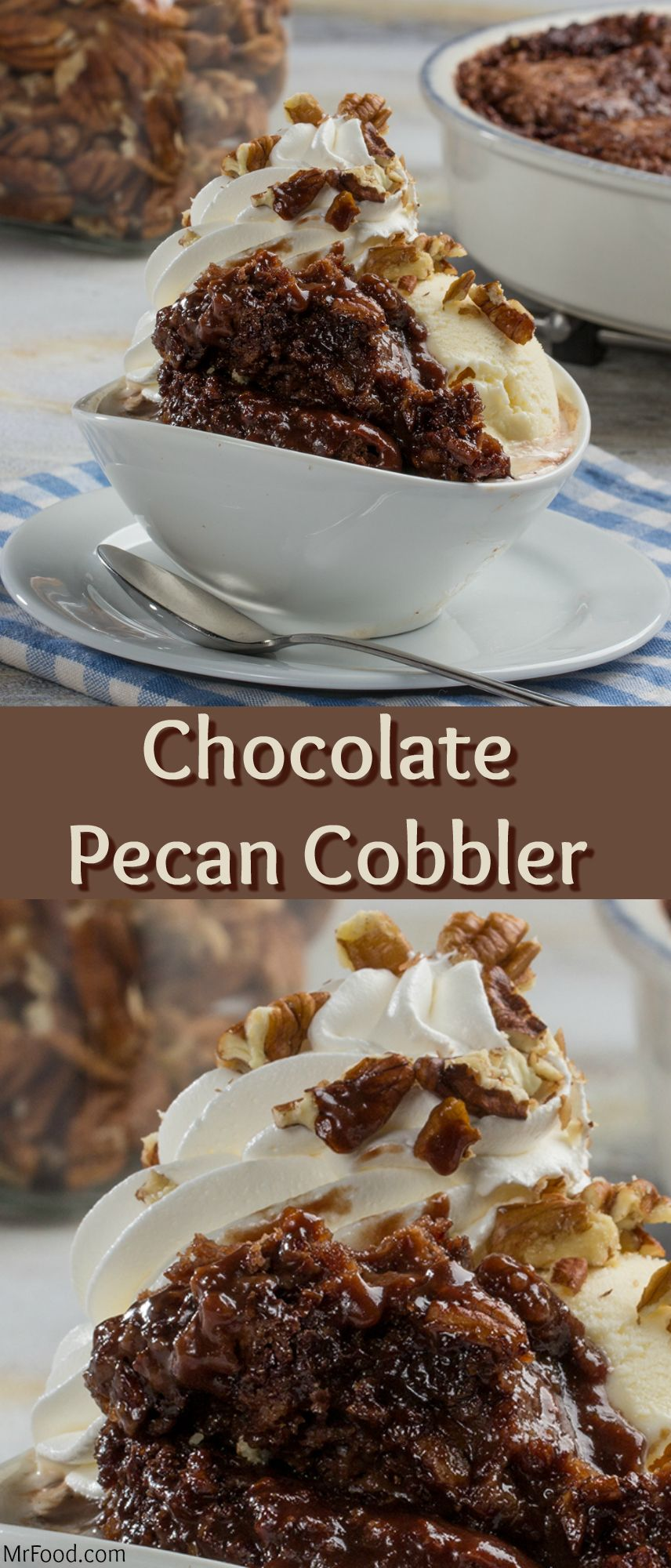 Chocolate Pecan Cobbler