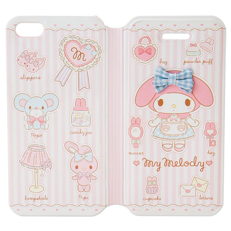 My Melody Bifold iPhone 5 5S Cover Case All Dressed Up SANRIO JAPAN