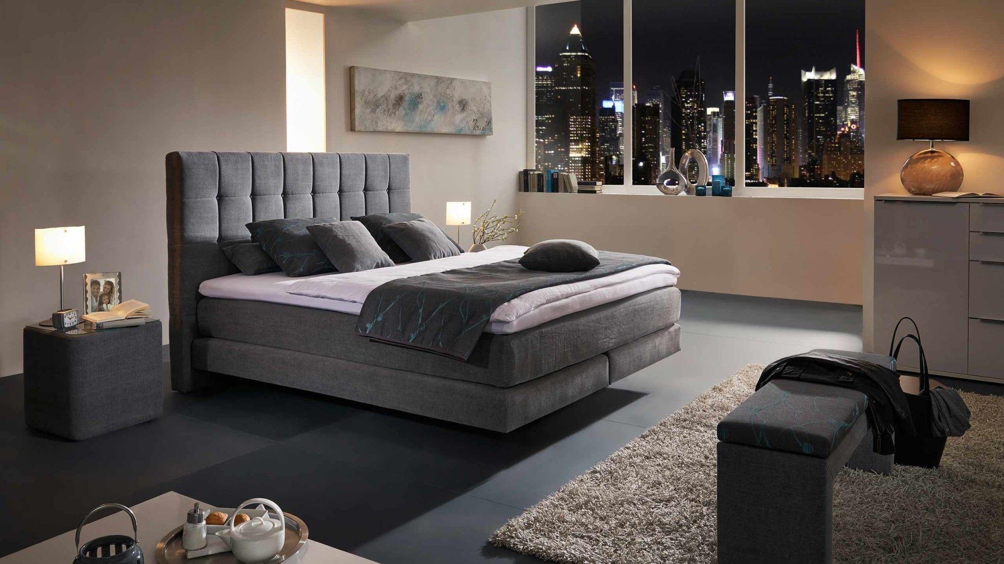 schlafzimmer set mit boxspringbett ...