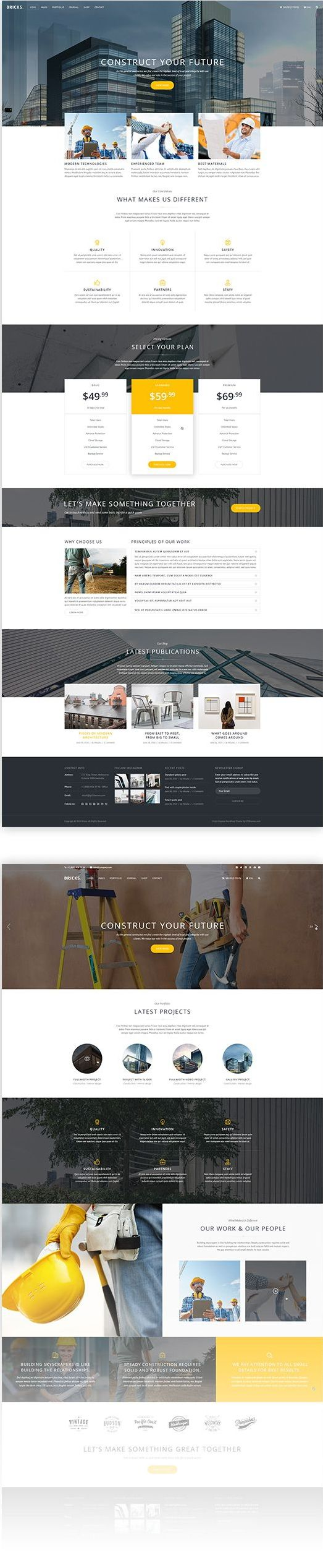 Bricks Construction and Building HTML Template Download Now ...