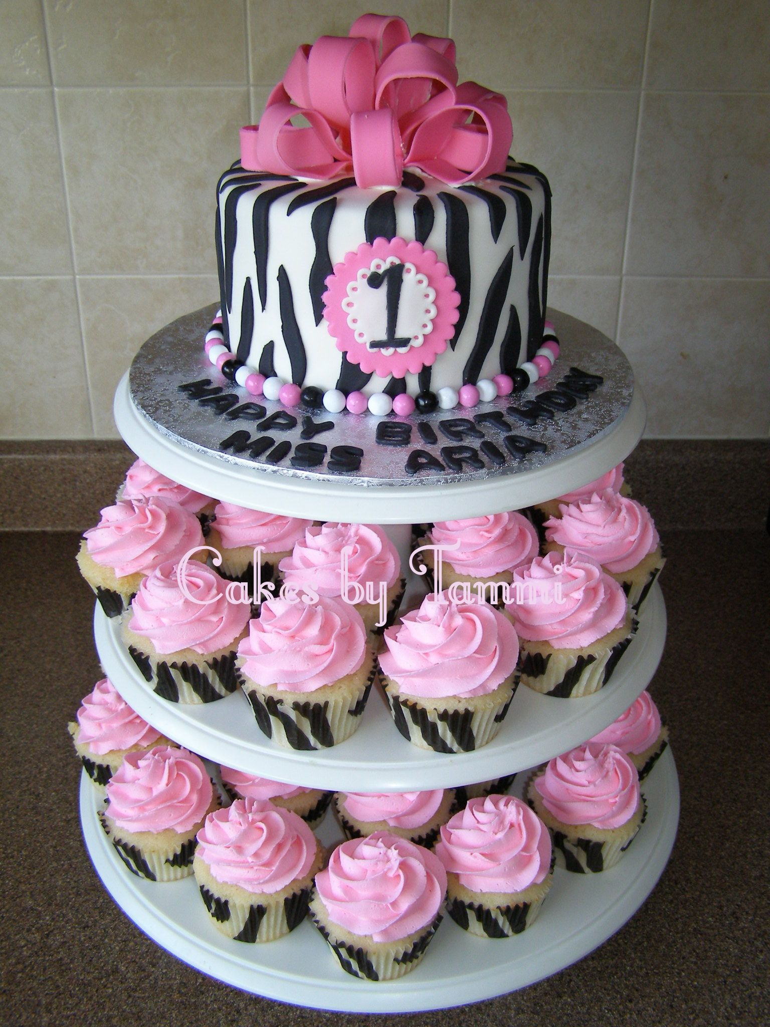 images of zebra hot pink 1st birthday cakes by tammi