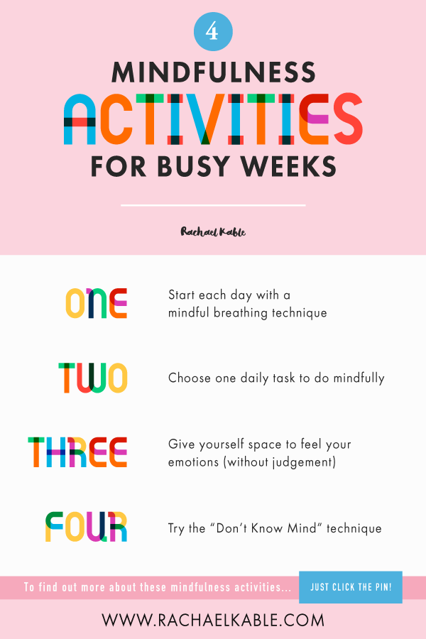 Mindfulness Activities Fun Ways To Be Mindful No Matter How Much Time You Have Rachael Kable Mindfulness Activities Mindfulness For Beginners Mindfulness