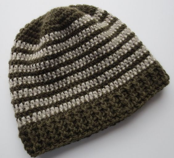 Crocheted Ribbed Hat Pattern My Recycled Bags Crochet Hats