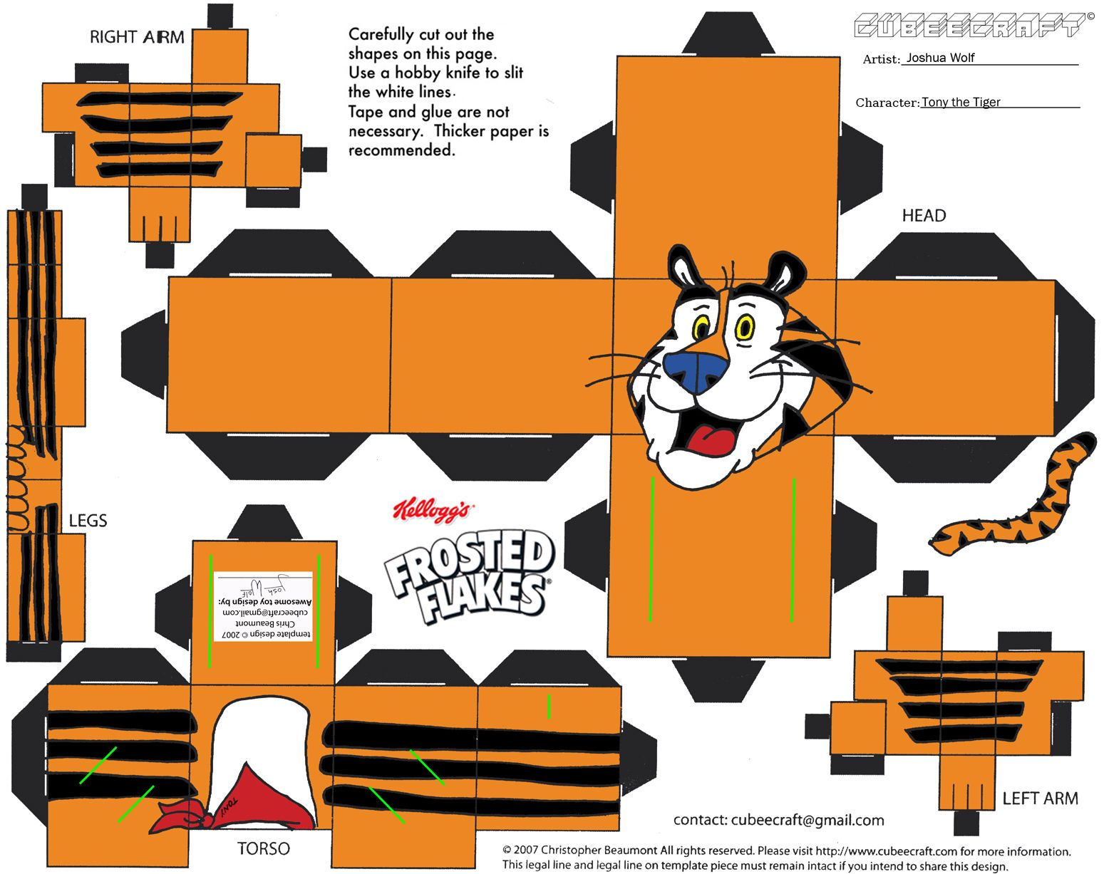 Tiger 3d paper crafts gift packages paperribbonscardstags tiger 3d paper crafts jeuxipadfo Choice Image