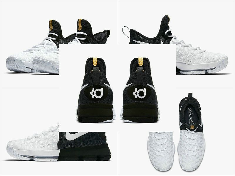 check out 5f33d fb2ba 2017 BHM Shoes NIKE KD 9 White Black Gold BHM 860637-100