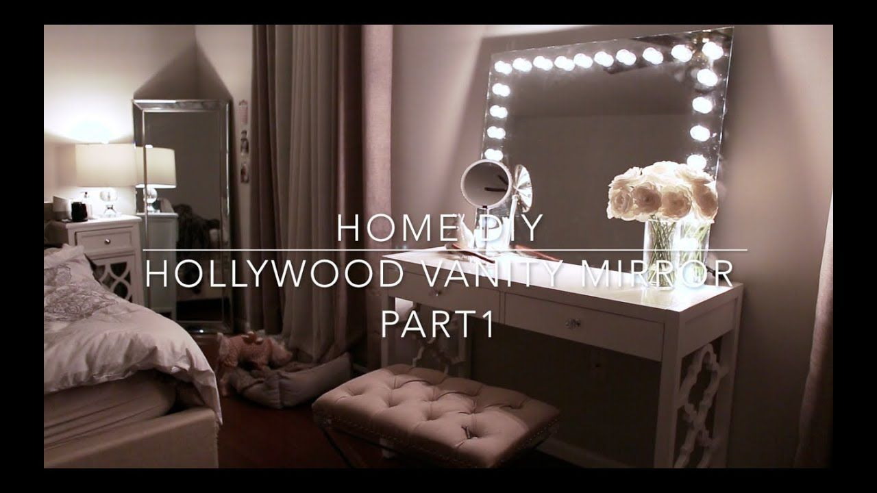 HOME DIY Hollywood Vanity Mirror with Lights l Under 70