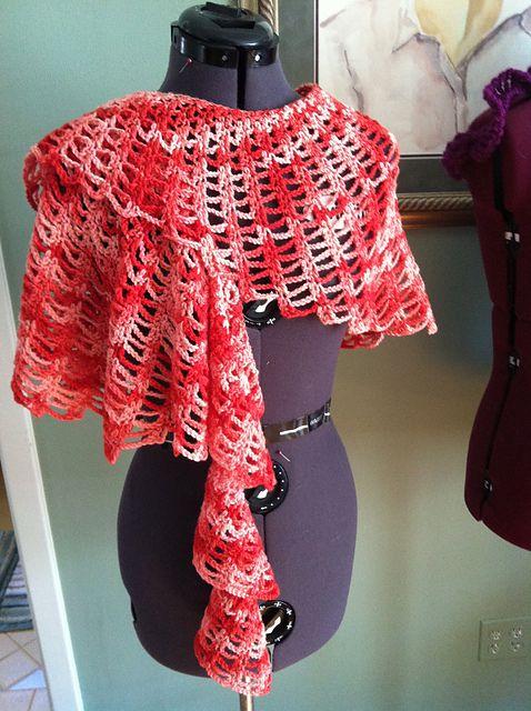 Free Crochet Pattern: Claire Ruffling Wrap | sjaals omslagdoeken ...