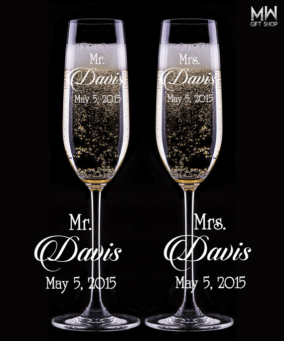 custom wedding champagne glasses engraved champagne flutes