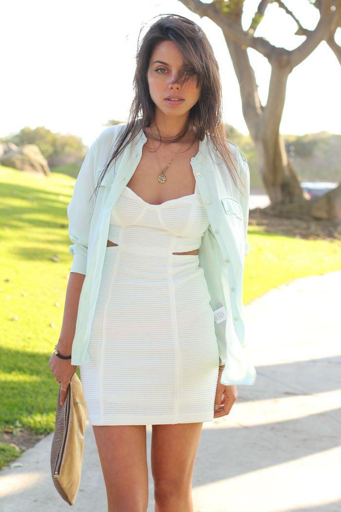 2012 Equipment blouse / Textured  dress  - Shopakira.com,Anthropologie golden plains pouch/Zara sandals