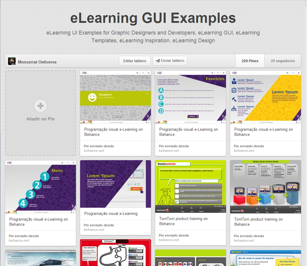 Follow this pinboard, more than 200 eLearning GUI Examples ...