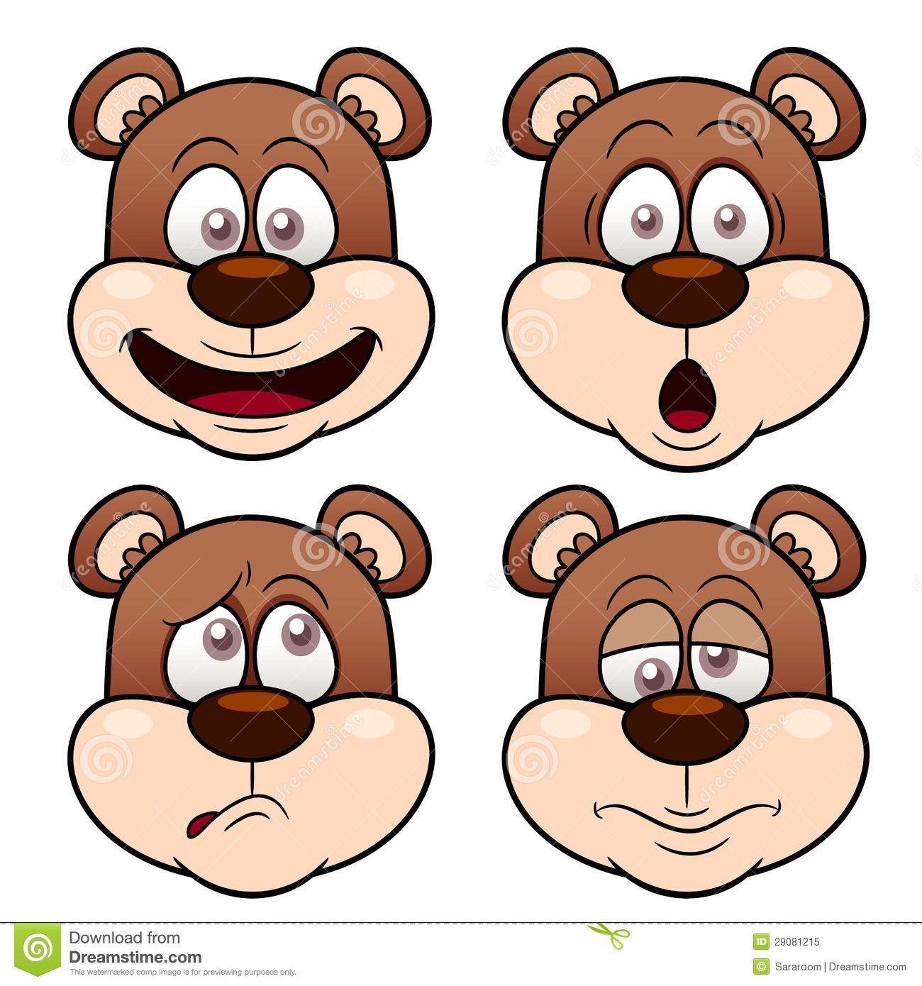 Smile. Vector illustration   Bear face drawing, Bear face ... (1300 x 1390 Pixel)