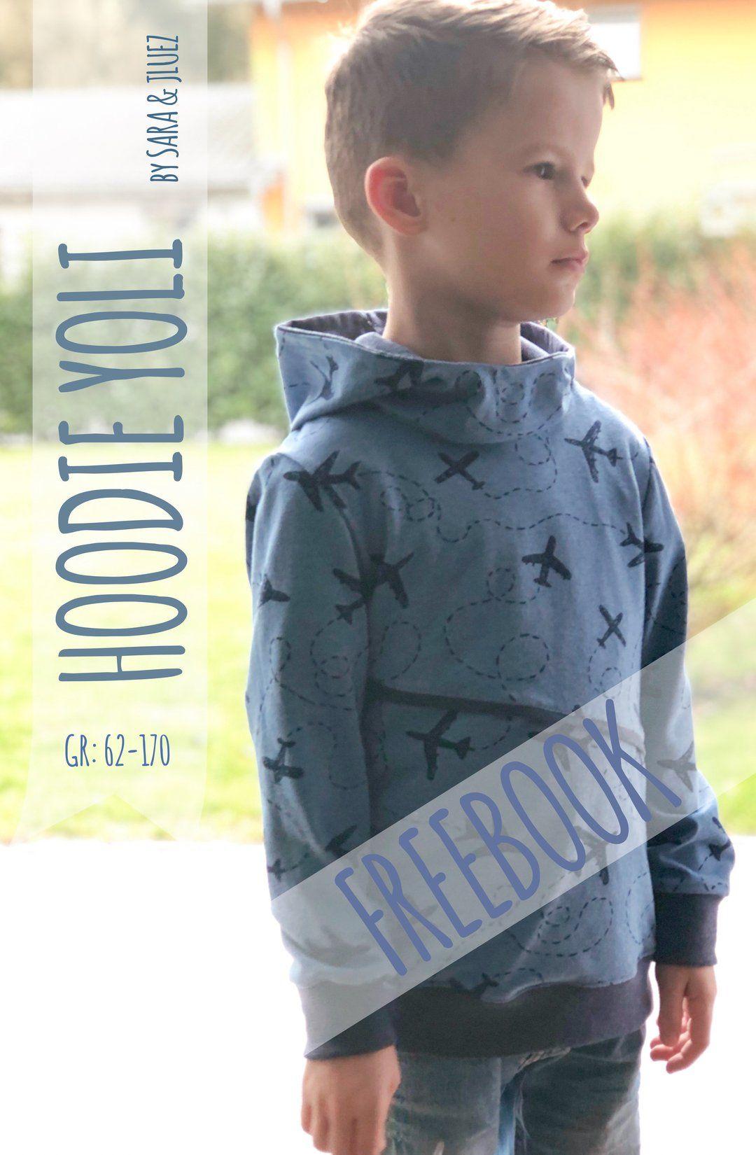 "Hoodie ""YOLI"" (Schnittmuster/Freebook) #freebookschnittmuster"