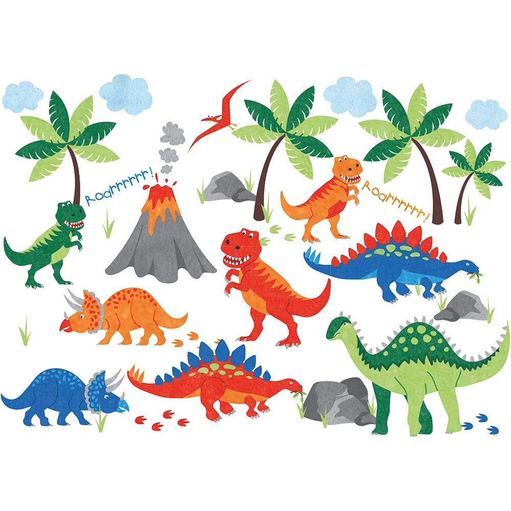 The Dinosaur Wall Stickers Make A Stunning Impact In Any Bedroom, Nursery  Or Playroom And Will Give Little Ones Plenty To Chat About. Repositionable A