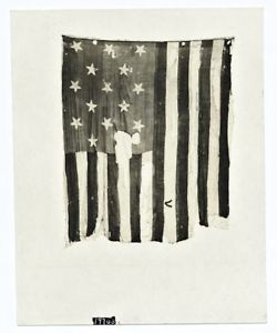 american flag war torn