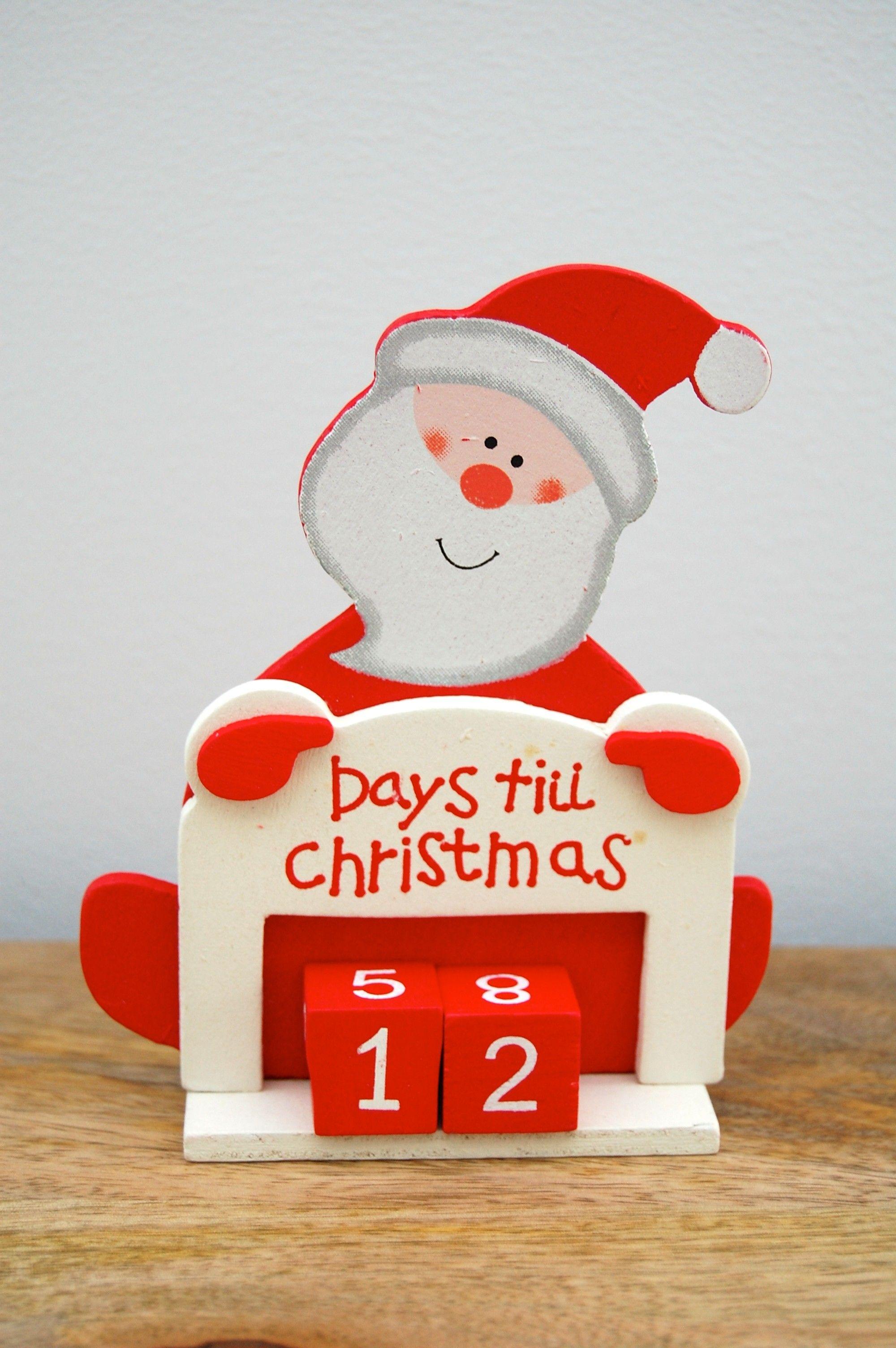 Santa Countdown Days Until Christmas Advent Calendar