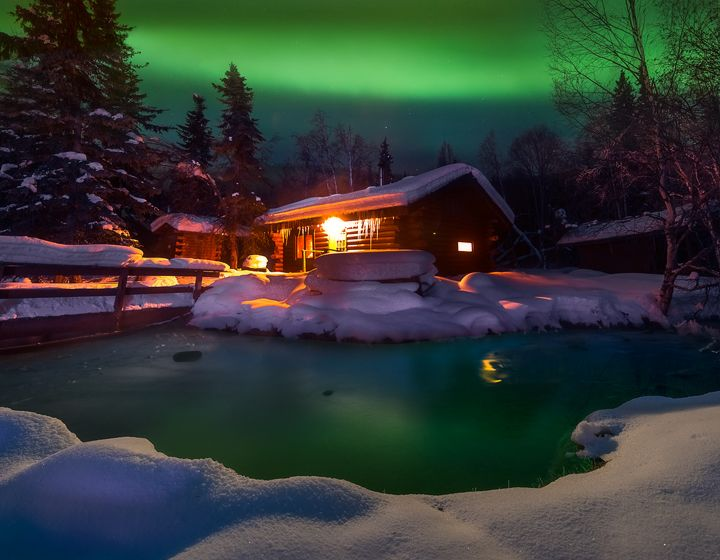 A Warm Winter Cabin Chena Hot Springs Alaska Cold