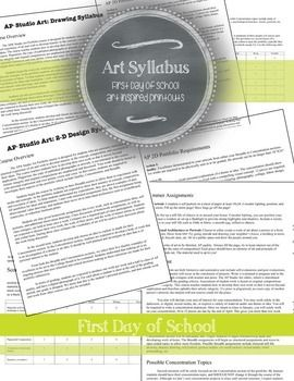 Advanced Placement Ap D And Drawing Portfolio Syllabus