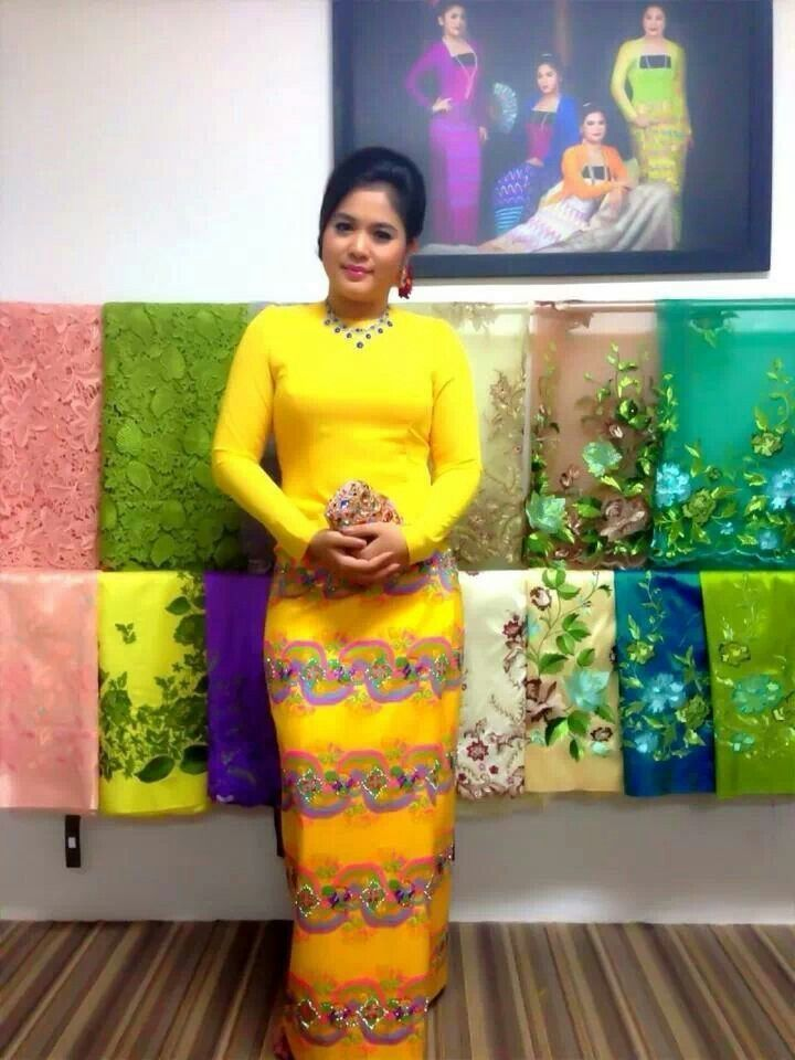 Cool African Traditional Wedding Dress myanmar dress... | Cute ...
