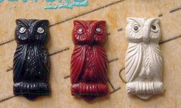 @ glass Owl Buttons