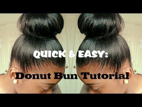 Hair Tutorial High Bun For Relaxed Hair Quick And Easy Relaxed Hair Hair Styles Natural Hair Styles