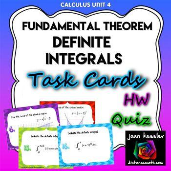 Calculus Integration Fundamental Theorem Definite Integral Task ...