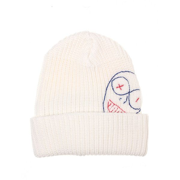 Vivienne Westwood Man Basic Knitwear Embroidery Beanie Hat ( 235) ❤ liked  on Polyvore featuring men s fashion 087a95a5473