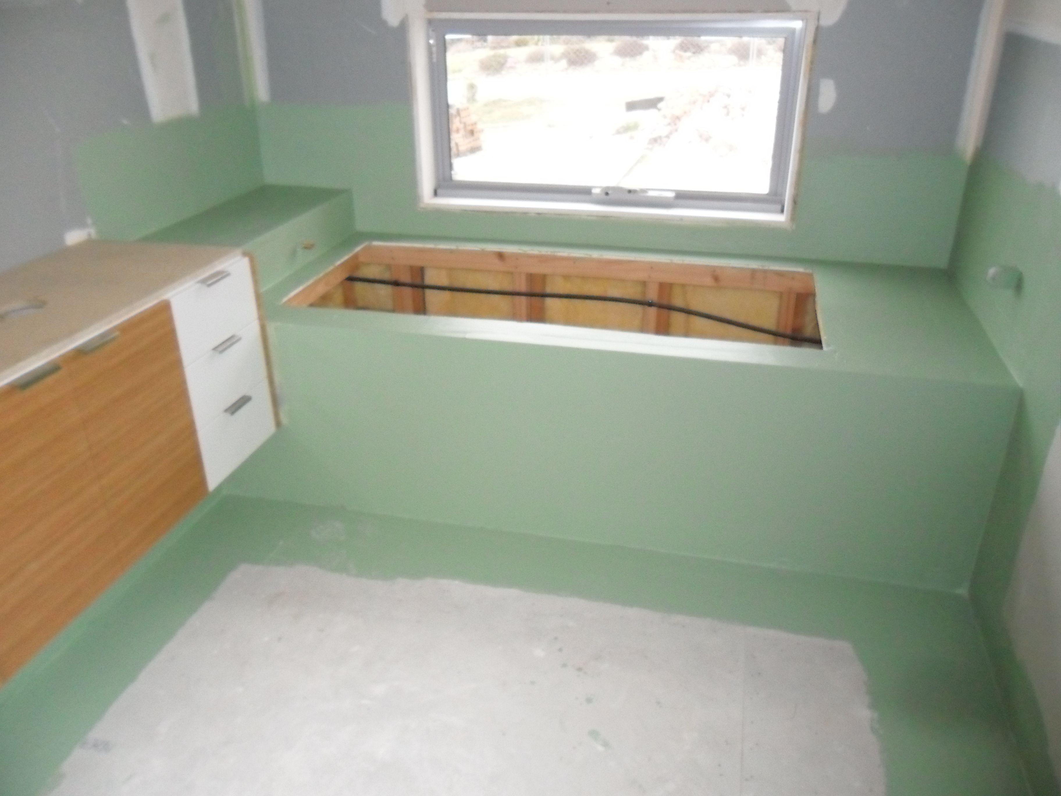 54 Park Rd. - bath hob built, insulation installed, waterproofing ...
