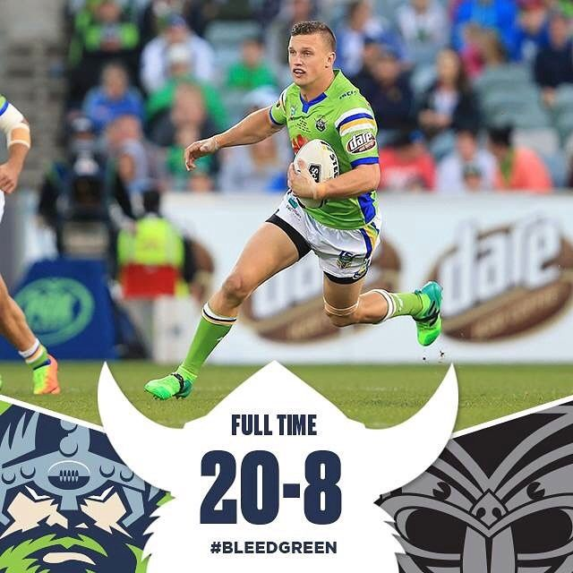 A big second half and we have defeated the Warriors 20-8! #BleedGreen
