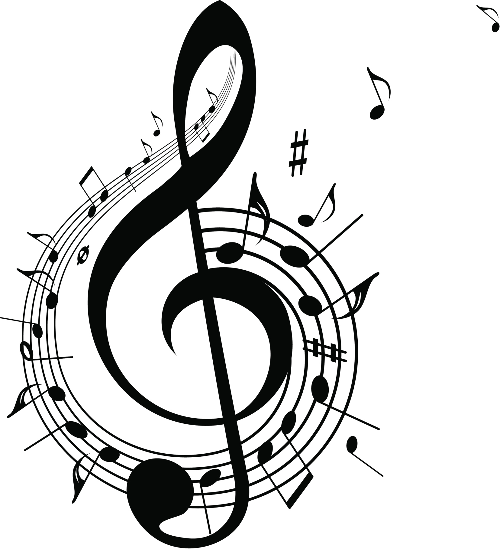Treble Clef And Music Notes Jpg Clip Art Library Music Notes New Years Song Clip Art Library