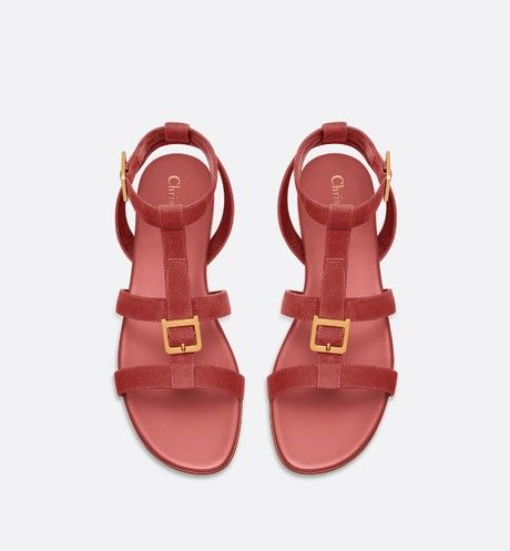 eae5bf46aba Double-D sandal in suede calfskin in 2019   SHOES   Sandals, Shoes ...