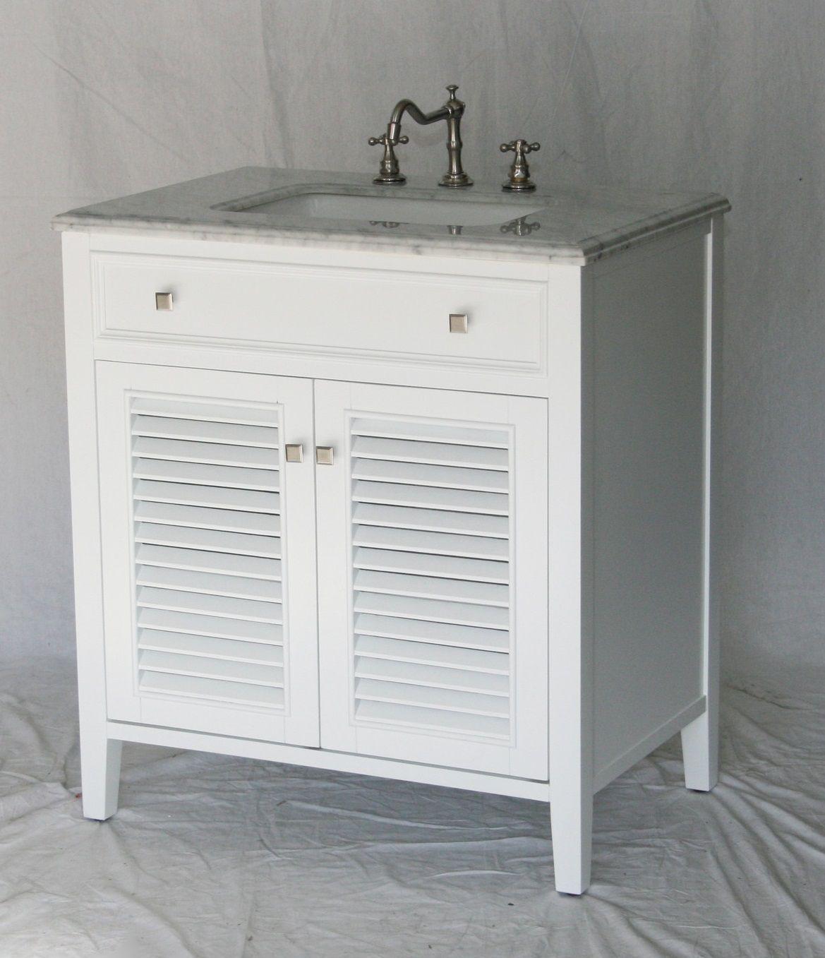 32 inch bathroom vanity pure white coastal cottage beach style 32wx21dx35h s332832w