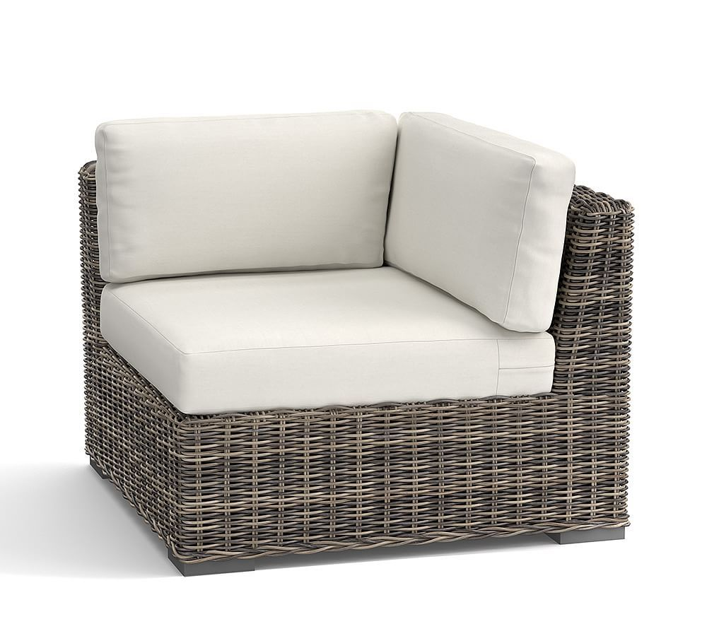 Rattan Corner Sofa Replacement Cushions Huntington All Weather Wicker Sectional Armless Chair Cushion At