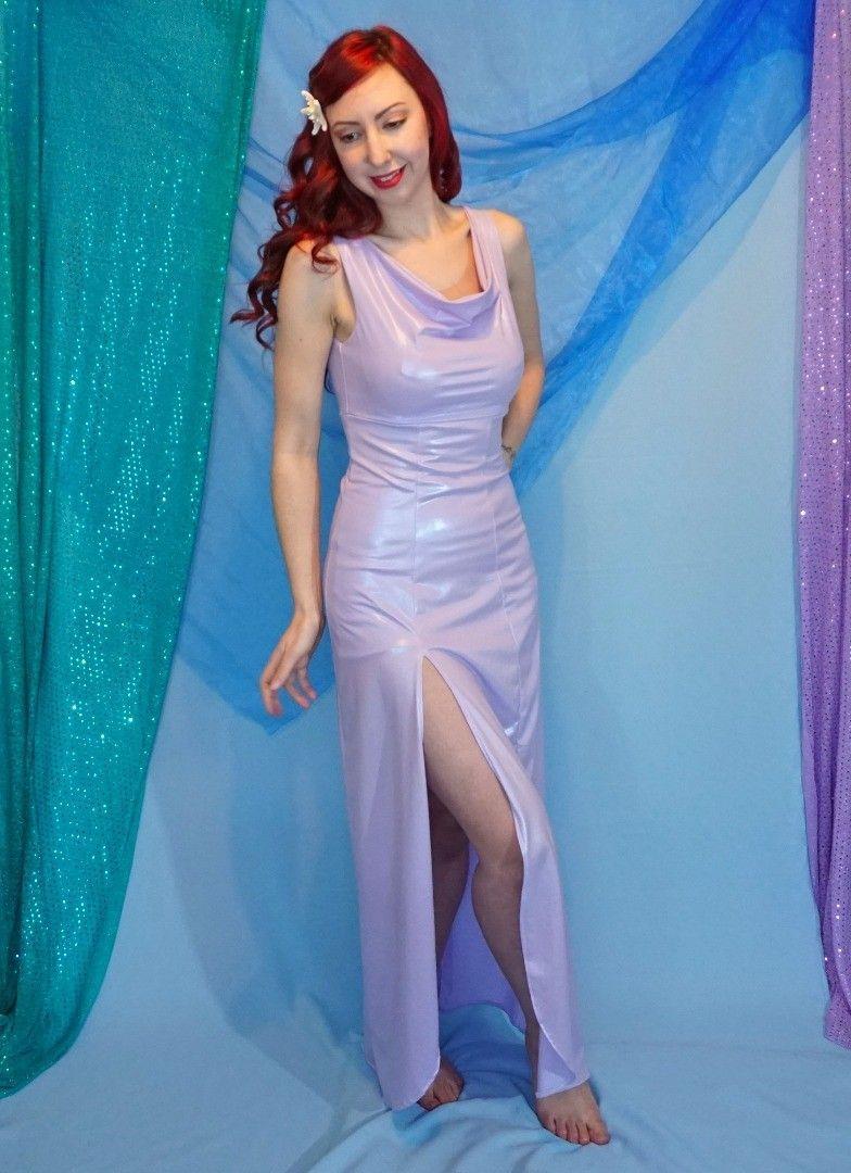Purple Seafoam Maxi Dress Lola Nova inspires by Ariel's