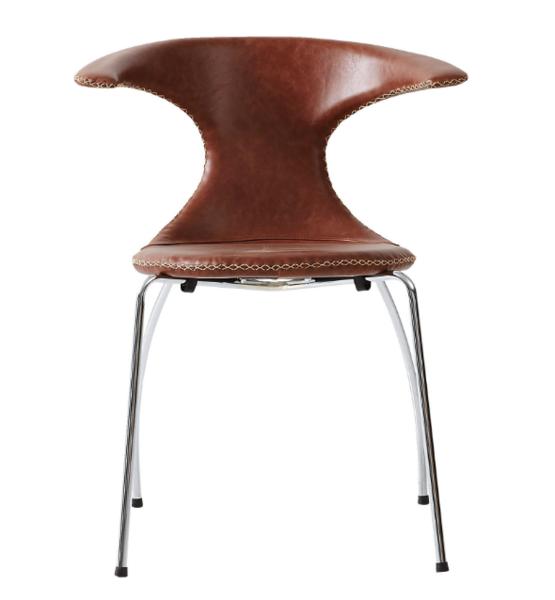 Flair stol - læder cognac læder - Jyskmøbelfabrik