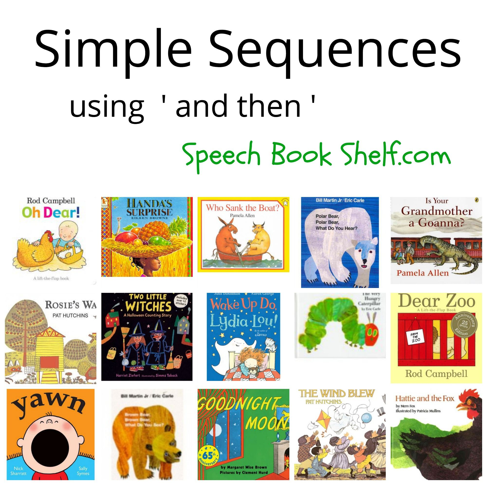 List Of Simple Sequence Books Encouraging Preschoolers To